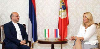 Cvijanovićeva sa ambasadorom Islamske Republike Iran u BiH Mahmudom Hajdarijem